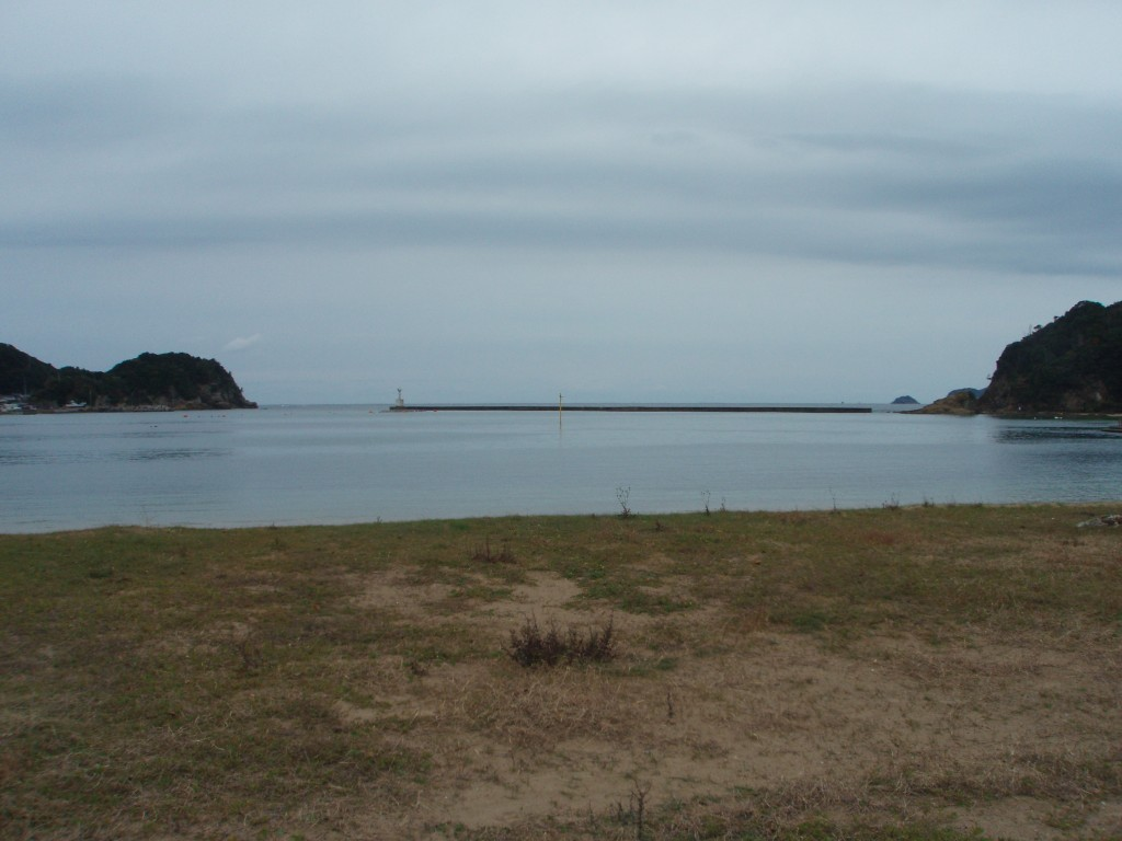 角島へ行く途中の海水浴場